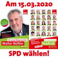 Am 15.03.2020 SPD wählen!